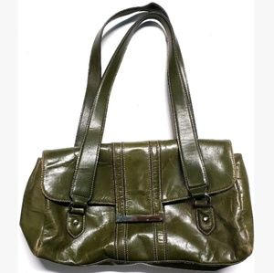 Apt.9 Faux Leather Purse Hand Bag Olive Green